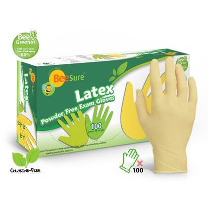 BeeSure 100's Latex Powder Free Examination Gloves