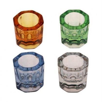 Glass Dappen Dish (Assorted Colour) 4's