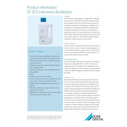 Dürr Dental ID213 Instrument Disinfectant - 2.5L