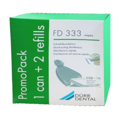 Dürr Dental FD333 Surface Wipes (1 Can + 2 Refill)