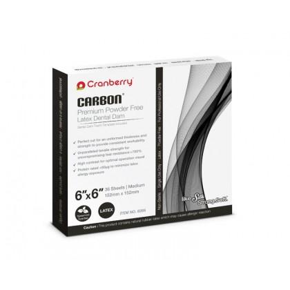 """Cranberry Carbon Dental Dam (Spearmint Scented) 6"""" x 6"""""""
