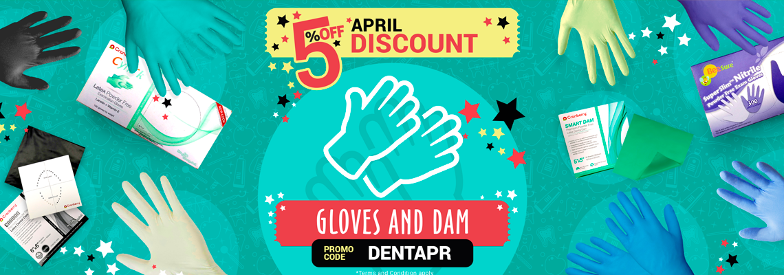 5% April Discount - Gloves and Dam